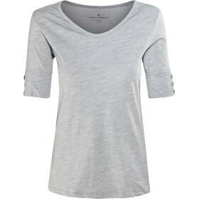 Royal Robbins Merinolux Camiseta Cuello en V Mujer, light pewter